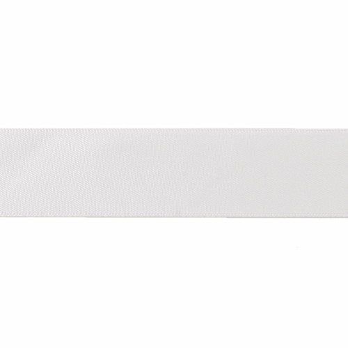 Satin Florist Ribbon 25mm/1 Inch Wide on a 20m/22yd Roll White