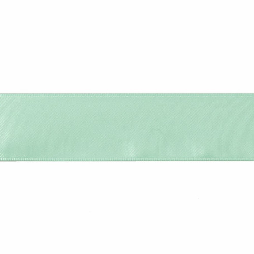 Satin Florist Ribbon 25mm/1 Inch Wide on a 20m/22yd Roll  Aqua