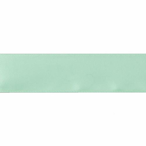 Satin Florist Ribbon 25mm/1 Inch Wide on a 20m/22yd Roll  Aqua