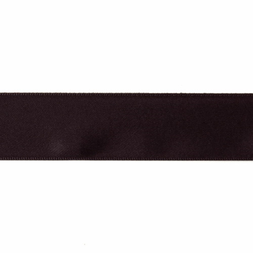 Satin Florist Ribbon 25mm/1 Inch Wide on a 20m/22yd Roll  Black