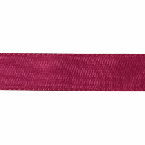 Satin Florist Ribbon 25mm/1 Inch Wide on a 20m/22yd Roll  Burgundy
