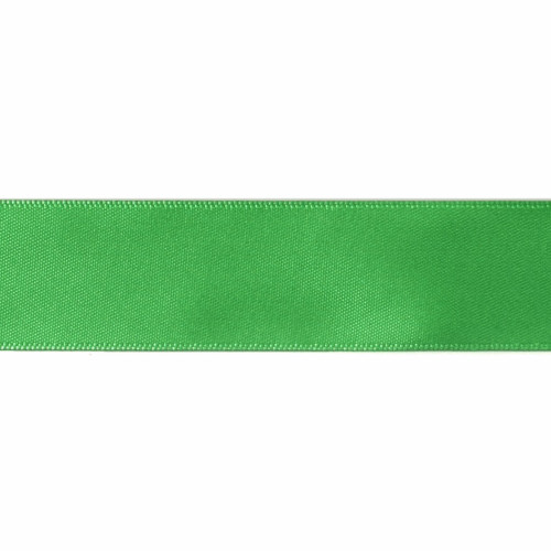 Satin Florist Ribbon 25mm/1 Inch Wide on a 20m/22yd Roll Emerald
