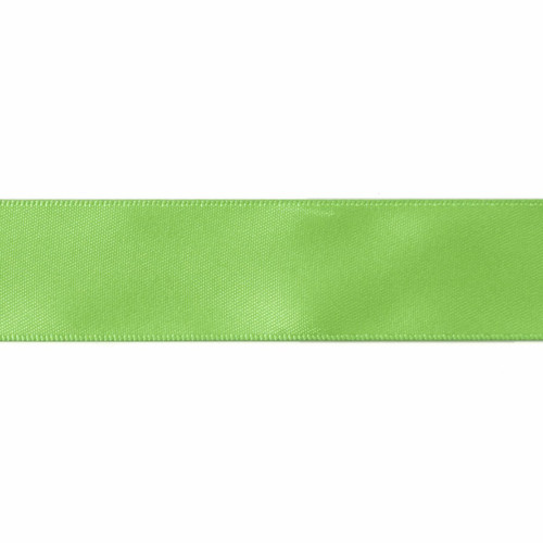 Satin Florist Ribbon 25mm/1 Inch Wide on a 20m/22yd Roll Lime Green