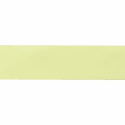 Satin Florist Ribbon 25mm/1 Inch Wide on a 20m/22yd Roll Light Yellow