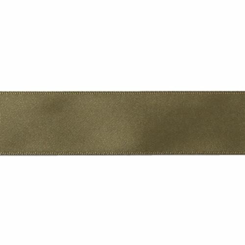 Satin Florist Ribbon 25mm/1 Inch Wide on a 20m/22yd Roll Moss Green