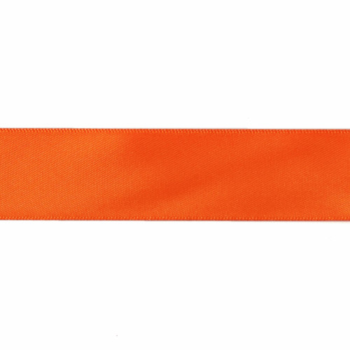 Satin Florist Ribbon 25mm/1 Inch Wide on a 20m/22yd Roll Orange