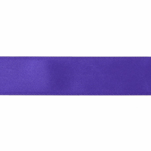 Satin Florist Ribbon 25mm/1 Inch Wide on a 20m/22yd Roll Purple