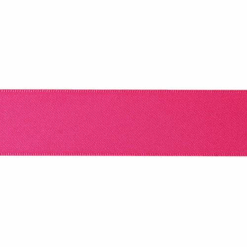 Satin Florist Ribbon 25mm/1 Inch Wide on a 20m/22yd Roll Shocking Pink