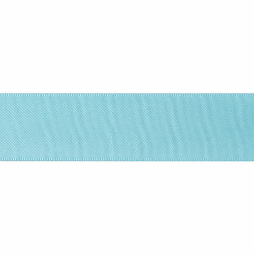 Satin Florist Ribbon 25mm/1 Inch Wide on a 20m/22yd Roll Turquoise Antique Blue