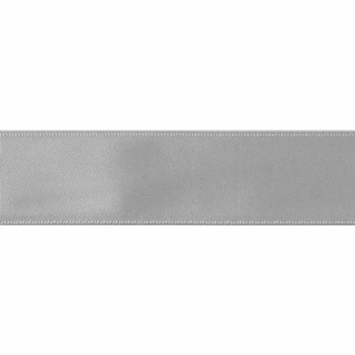 Satin Florist Ribbon 25mm/1 Inch Wide on a 20m/22yd Roll Silver Grey