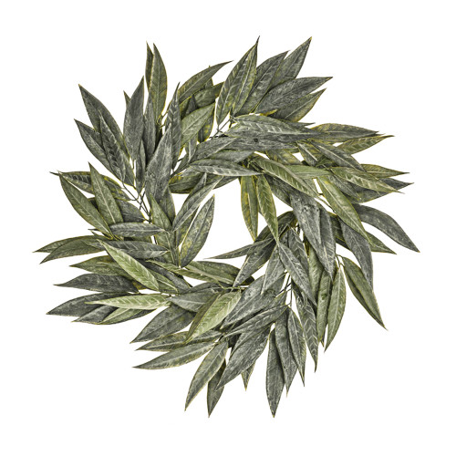 Long Leaf Artificial Willow Wreath 65cm