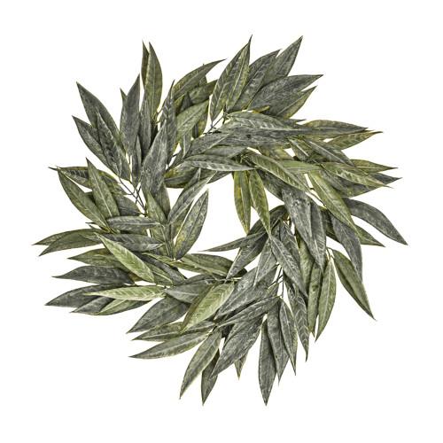 Long Leaf Artificial Willow Wreath 65cm