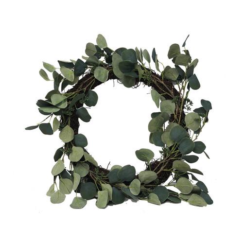 Round Leaf Artificial Eucalyptus Wreath Diameter 40cm/16 Inch