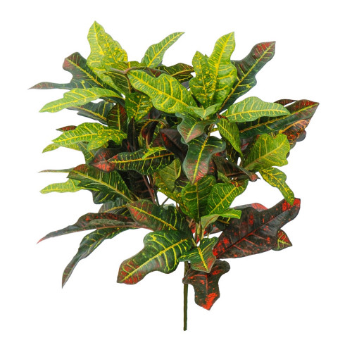 Croton or Joseph's Coat Artificial Leaf Branch 90cm/35 Inches
