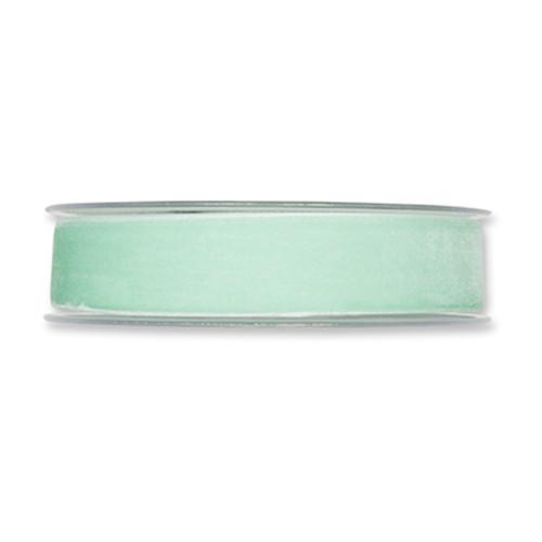 Velvet Fabric Ribbon 25mm x 9m Cool Mint
