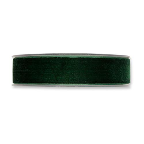Velvet Fabric Ribbon 25mm x 9m Fir Green