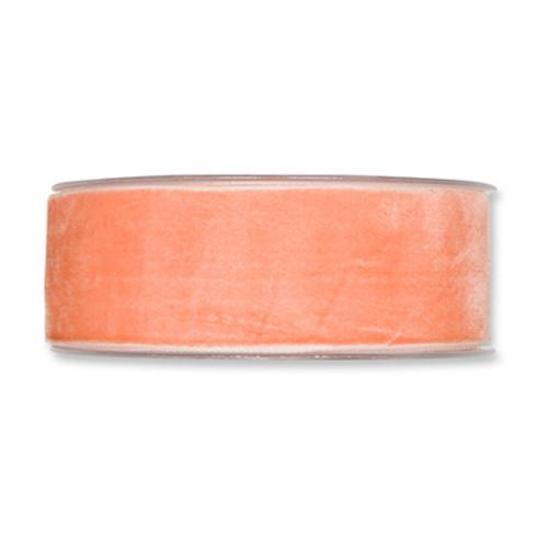 Velvet Fabric Ribbon 38mm Wide x 9.5m Apricot