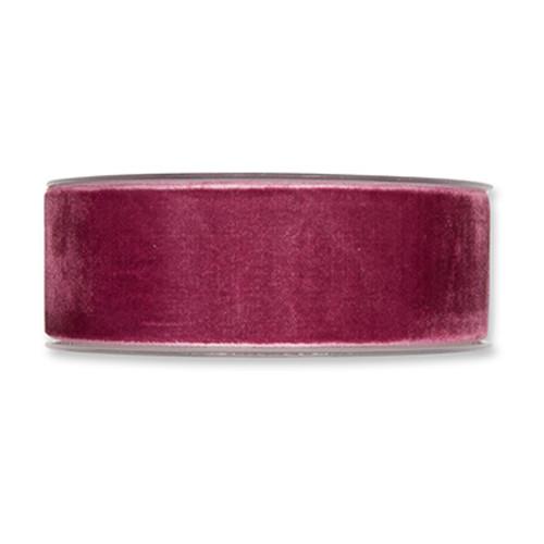 Velvet Fabric Ribbon 38mm Wide x 9.5m Berry