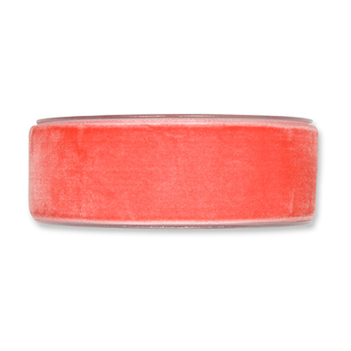 Velvet Fabric Ribbon 38mm Wide x 9.5m Coral