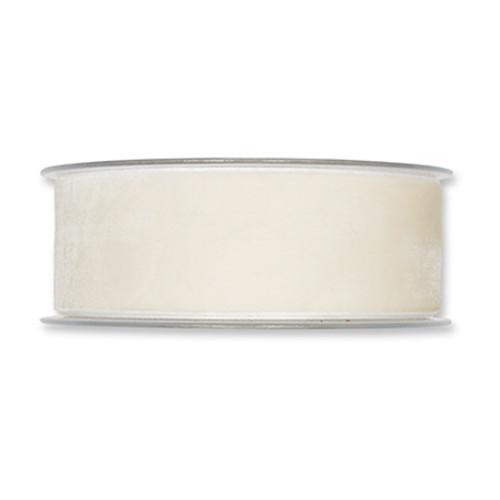 elvet Fabric Ribbon 38mm Wide x 9.5m Cream