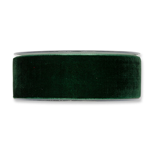 Velvet Fabric Ribbon 38mm Wide x 9.5m Fir Green