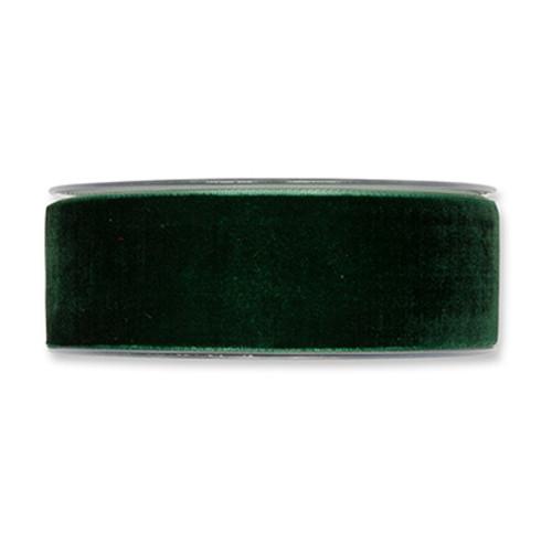 Velvet Fabric Ribbon 38mm Wide x 9.5m Fir Green