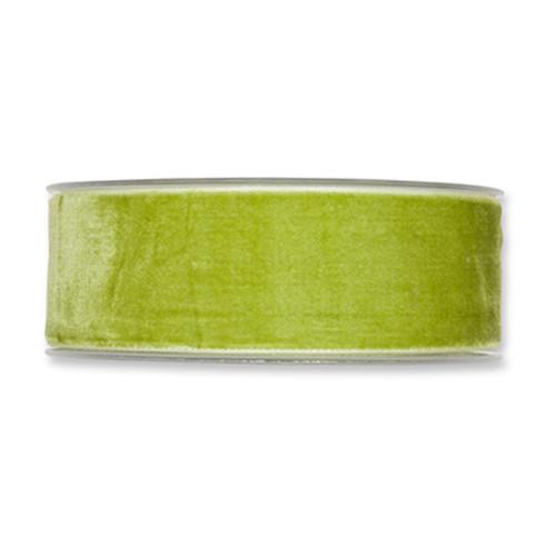 Velvet Fabric Ribbon 38mm Wide x 9.5m Green