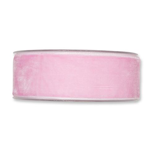 Velvet Fabric Ribbon 38mm Wide x 9.5m Rose Pink