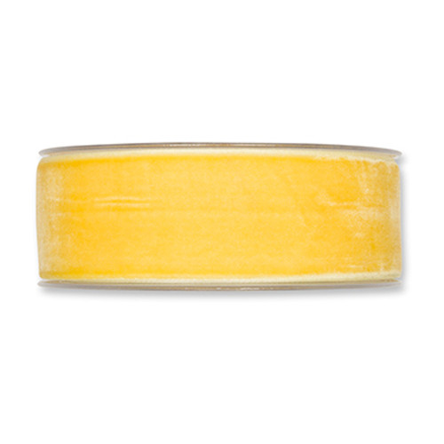 Velvet Fabric Ribbon 38mm Wide x 9.5m yellow