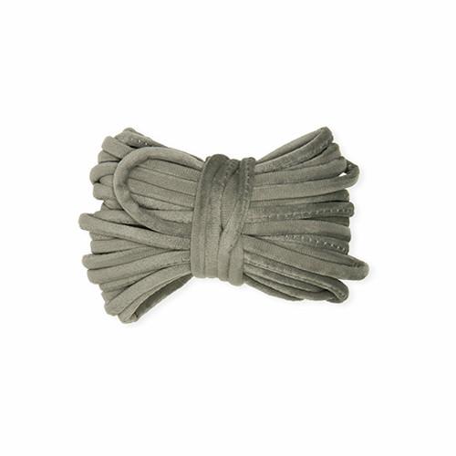 Grey Velvet Knitted Craft Cord