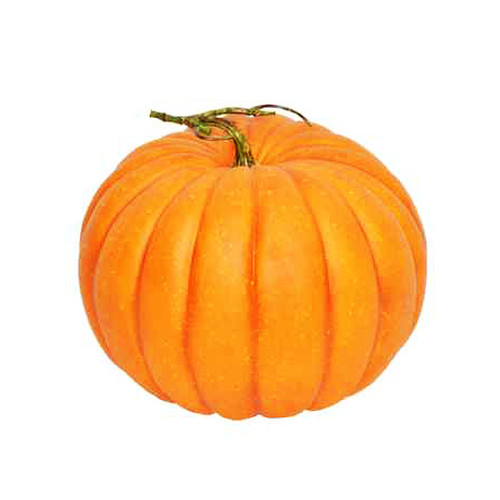 Artificial Orange Pumpkin 32cm in Diameter With Stalk