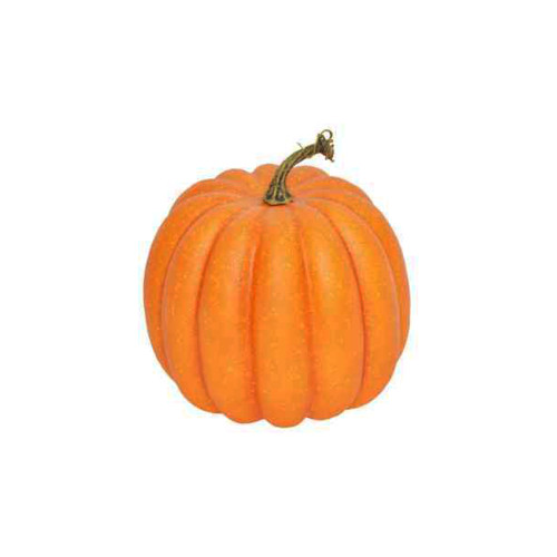 Artificial Orange Pumpkin 19cm in Diameter With Stalk