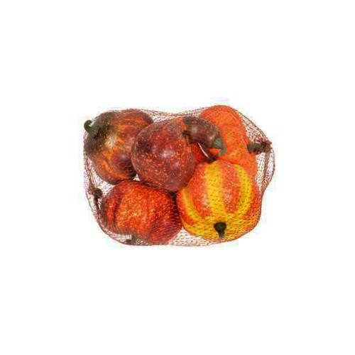 Artificial Orange Pumpkin  x 6 Fruit Assortment
