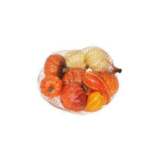 Artificial Orange Pumpkin Gourd x 10 Fruit Assortment