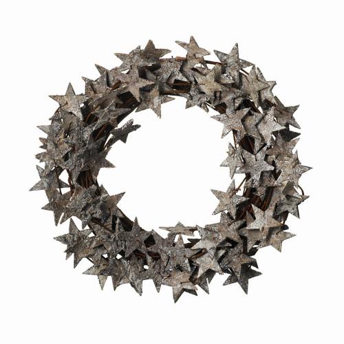 Glitter Bark Star Wreath 36cm/14 Inches Diameter