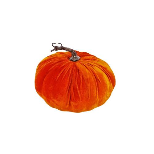 Velvet Pumpkin Seasonal Decoration Orange small