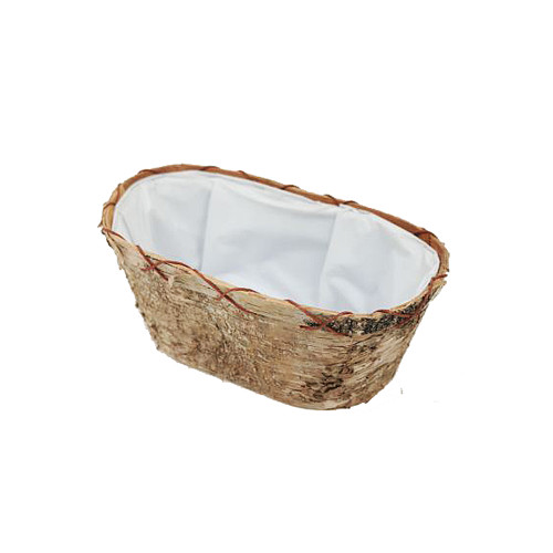 Birch Bark Oval Bowl 24 x 10cm