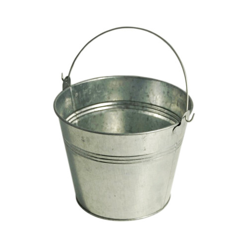 Metal Bucket Galvanised 18cm/ 7 Inches Tall
