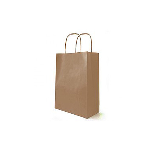 Kraft Bag Cord Handle 18 x 8 x 22cm Natural