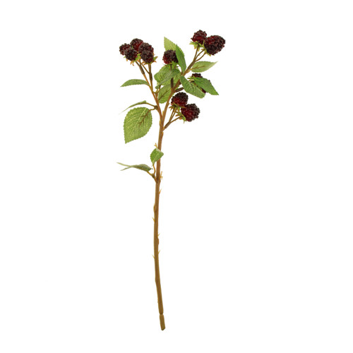 Artificial Autumn Raspberry Spray 39cm Black