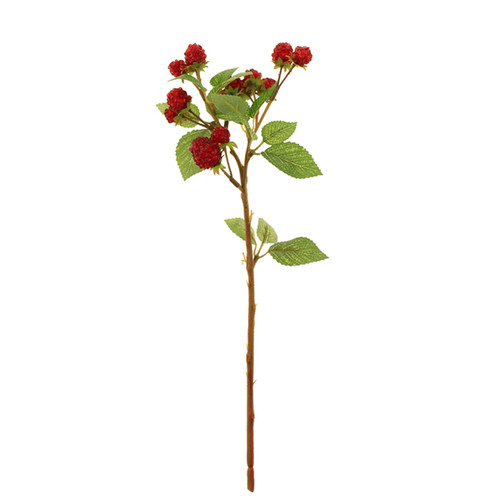 Artificial Autumn Raspberry Spray 39cm Red