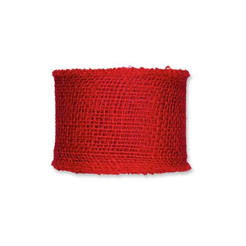 Ribbon Red Hessian Jute 8cm x 10m