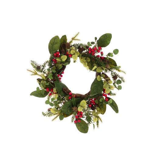 Somerset Rustic Seasonal Wreath Pine Eucalyptus Berries