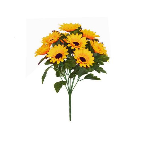 Sunflower Bush Artificial 10 Heads