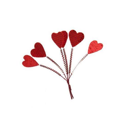 Red Valentine Heart Picks