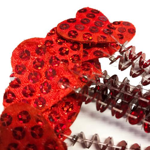 Red Valentine Heart Picks 18cm detail