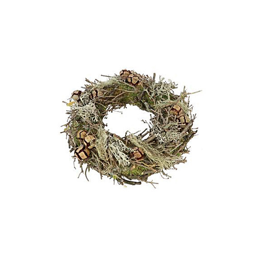 Moss Wreath with Twigs, Cones and Dried Moss