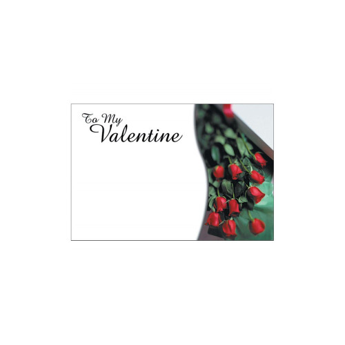 Valentine Bouquet and Gift Cards To My Valentine Red Rose