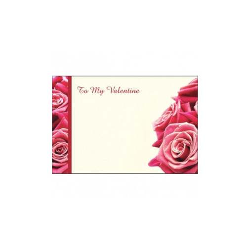 Valentine Bouquet and Gift Cards To My Valentine Pink Rose