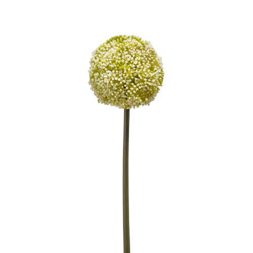 Allium Artificial Single Flower Stem White Green